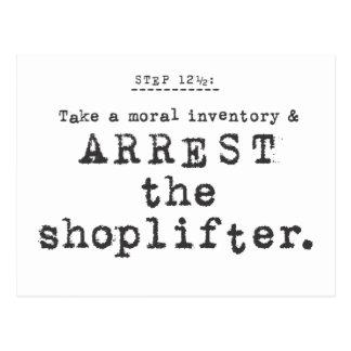 arrest the shoplifter... postcard