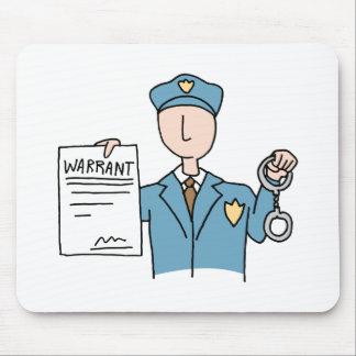 Arrest Warrant Mouse Pad