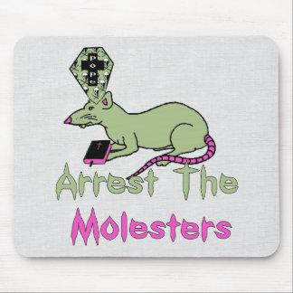 Arreste a los pederastas tapetes de raton
