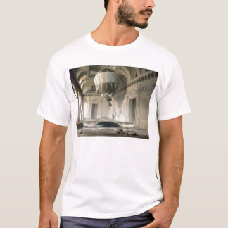 Arrested Expansion 80s style surreal white t-shirt