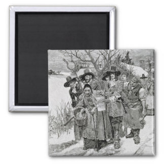 Arresting a Witch 2 Inch Square Magnet
