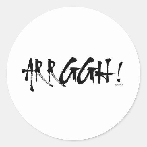 Arrggh! Round Stickers