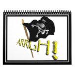¡ARRGH! Bandera de pirata alegre de Rogelio que ag Calendarios