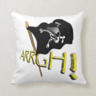 ¡ARRGH! Bandera de pirata alegre de Rogelio que ag Almohada