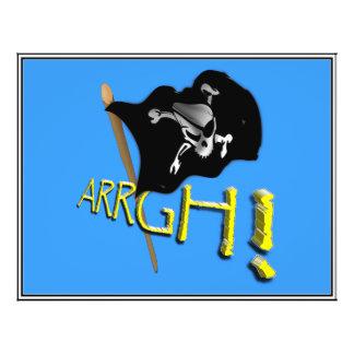 ¡ARRGH Bandera de pirata alegre de Rogelio que ag