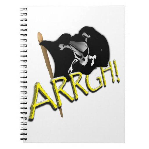 ¡ARRGH! Bandera de pirata alegre de Rogelio que ag Cuadernos