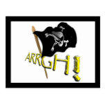 ¡ARRGH! Bandera de pirata alegre de Rogelio que Postal