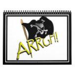 ¡ARRGH! Bandera de pirata Calendarios