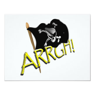 "¡ARRGH! Bandera de pirata Invitación 4.25"" X 5.5"""