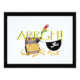 """¡ARRGH! Con el tesoro del pirata, remiendo del Invitación 4.25"""" X 5.5"""""""