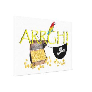 ¡ARRGH - Imagen del texto del día del pirata Impresiones De Lienzo