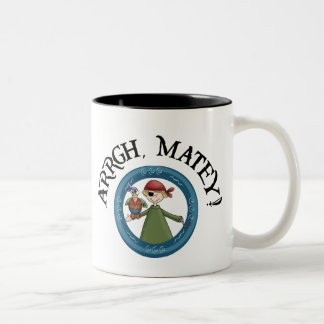 Arrgh Matey Pirate And Parrot Coffee Mug
