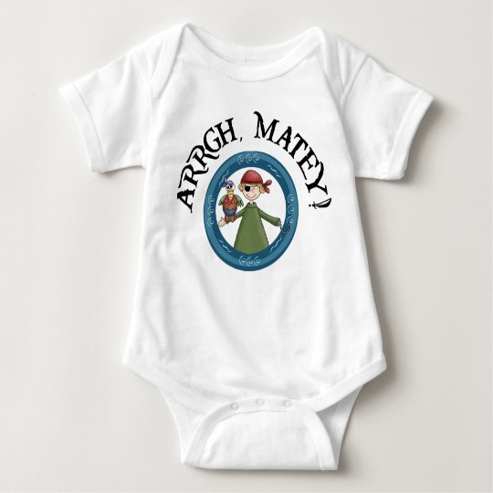 Arrgh Matey Pirate And Parrot Infant Shirt
