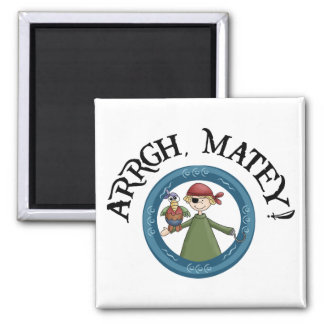 Arrgh Matey Pirate And Parrot Magnet Refrigerator Magnet