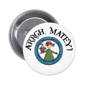 Arrgh Matey Pirate And Parrot Pin Pin