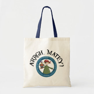 Arrgh Matey Pirate And Parrot Tote Bag Canvas Bag