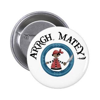 Arrgh Matey Pirate Boy Button Button
