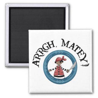 Arrgh Matey Pirate Boy Refrigerator Magnet Refrigerator Magnets