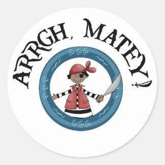 Arrgh Matey Pirate Boy Stickers Sticker