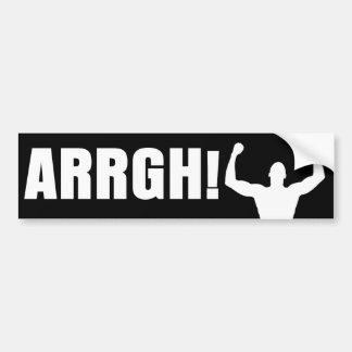 ¡ARRGH! PEGATINA DE PARACHOQUE