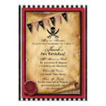 Arrgh! Pirate Birthday Party Invitation