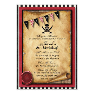Pirate invitations announcements zazzle arrgh pirate birthday party invitation stopboris