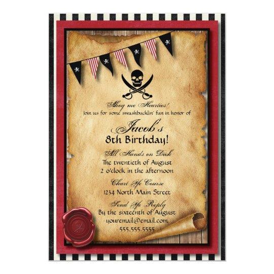 Arrgh pirate birthday party invitation zazzle arrgh pirate birthday party invitation filmwisefo