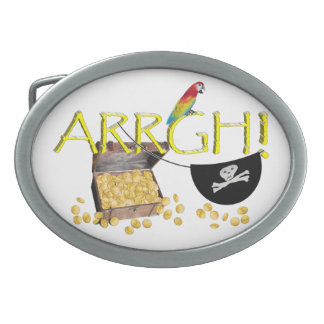ARRGH - Pirate Day Text Image Belt Buckle