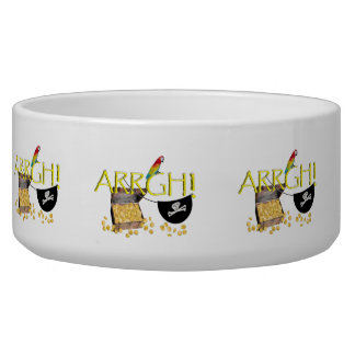 ARRGH! - Pirate Day Text Image Dog Water Bowl