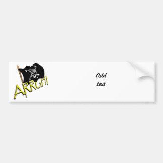 ARRGH! Pirate Flag Car Bumper Sticker