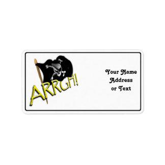 ARRGH! Pirate Flag Custom Address Labels