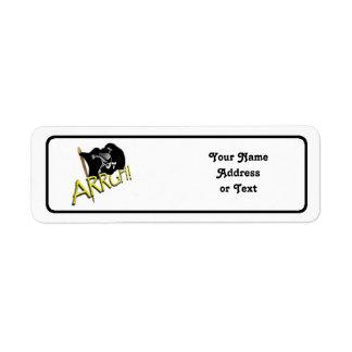 ARRGH! Pirate Flag Custom Return Address Labels