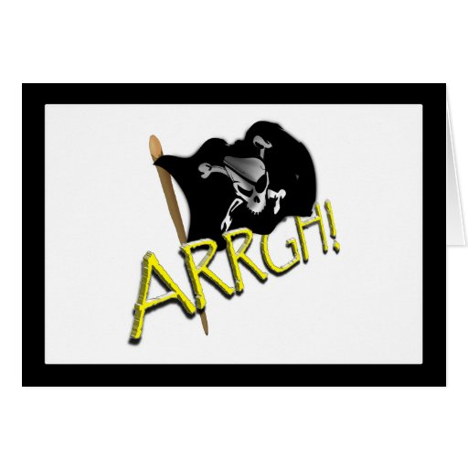 ARRGH! Pirate Flag Greeting Cards