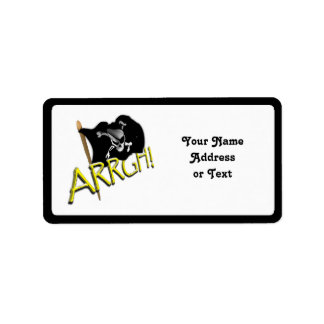 ARRGH! Pirate Flag Personalized Address Label