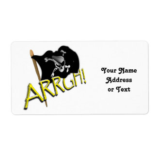 ARRGH! Pirate Flag Shipping Label