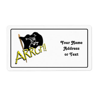 ARRGH! Pirate Flag Shipping Labels