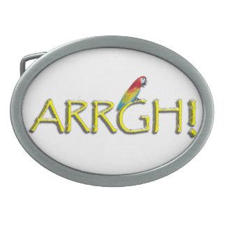 ARRGH Pirate Text Design Belt Buckle