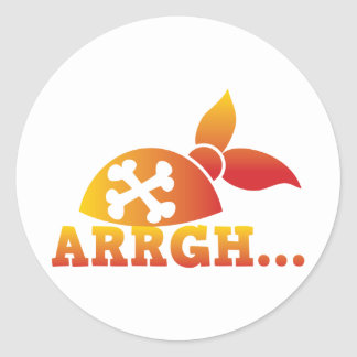 arrgh... PRATE scurvy me hearties hat  ! Classic Round Sticker