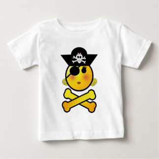 ARRGH! Smiley - Girl  Emoticon Pirate Baby T-Shirt