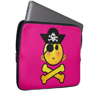 ARRGH! Smiley - Girl  Emoticon Pirate Computer Sleeves