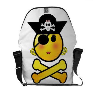 ARRGH Smiley - Girl Emoticon Pirate Messenger Bags