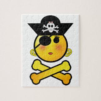 ARRGH Smiley - Girl Emoticon Pirate Puzzles