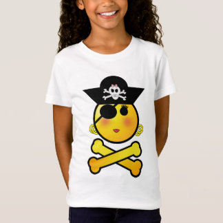 ARRGH! Smiley - Girl  Emoticon Pirate T-Shirt