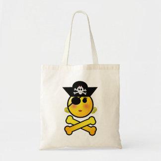 ARRGH! Smiley - Girl  Emoticon Pirate Tote Bag