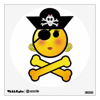 ARRGH! Smiley - Girl  Emoticon Pirate Wall Sticker