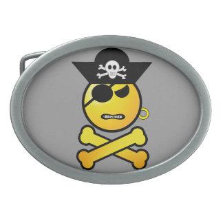 ARRGH Smiley - GRR Emoticon Pirate Belt Buckle