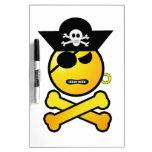 ARRGH! Smiley - GRR  Emoticon Pirate Dry Erase Whiteboards