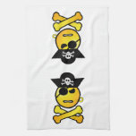 ARRGH! Smiley - GRR  Emoticon Pirate Hand Towels