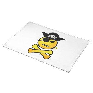 ARRGH Smiley - GRR Emoticon Pirate Placemat