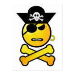 ARRGH! Smiley - GRR  Emoticon Pirate Post Cards